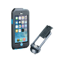 Weatherproof RideCase with RideCase Mount. for iPhone 5/5S/SE. Black/Gray